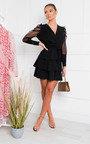 Laurenza Sheer Sleeve Dress Thumbnail
