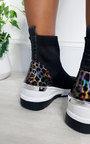 Lauryn Leopard Print Chunky Sock Trainers Thumbnail