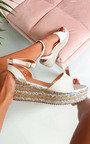 Lauryn Metallic Detail Flatform Sandals Thumbnail