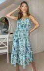 Layla Printed Midi Dress Thumbnail