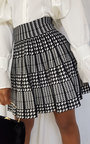 Layla Two Tone Pleated Mini Skirt Thumbnail
