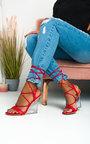 Laylie Perspex Wedge Tie Up Heels Thumbnail