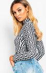 Leanne Geometric Printed Bodysuit Thumbnail