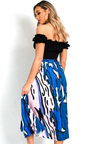 Leena Pleated Print Midi Skirt Thumbnail