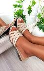 Lennon Patent Slip On Sandals Thumbnail