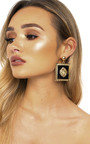 Leo Lion Head Statement Earrings  Thumbnail