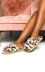 Leo Printed Faux Fur Slippers Thumbnail