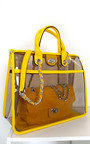 Leona Transparent Two in One Tote Handbag Thumbnail