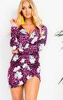 Lexy Long Sleeve Wrap Dress  Thumbnail