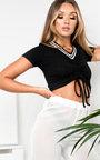 Lianna Sheer Wide Leg Trousers Thumbnail