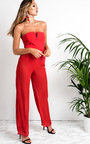 Lianna Sheer Wide Leg Trousers Thumbnail