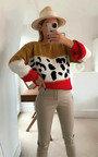 Lilia Knitted Leopard Print Jumper  Thumbnail