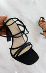 Lilly Faux Suede Strappy Heels  Thumbnail