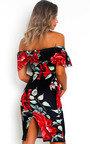 Lilly Floral Bardot Bodycon Dress Thumbnail