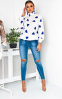 Lilly High Neck Chiffon Blouse  Thumbnail
