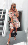 Lilly Off Shoulder Floral Dress Thumbnail