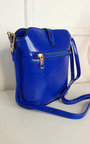 Lily Faux Leather Crossbody Bag with Gold Detail and Adjustable Strap Thumbnail