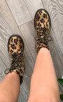 Lina Faux Suede Leopard Boots Thumbnail