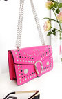 Lina Studded Buckle Shoulder Bag Thumbnail