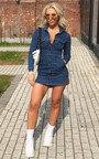 Lisa Button Up Denim Dress Thumbnail