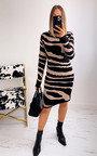 Lisa High Neck Printed Dress Thumbnail