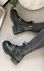 Lissie Chain Buckle Biker Boots  Thumbnail