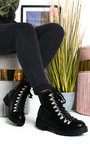Lissy Lace Up Flat Boots Thumbnail