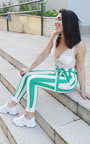 Livia Striped High Waist Trouser Thumbnail