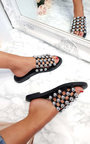 Liza Studded Caged Open Toe Sandals Thumbnail