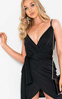 Liza Wrap Mini Dress Thumbnail