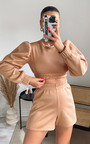 Lizzie Cropped Puff Sleeve Co Ord Thumbnail