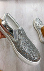 Lizzy Glitter Slip On Trainers Thumbnail
