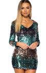 Lois Sequin Embellished Mini Dress Thumbnail