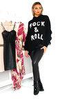 Lola Chunky Knitted Tassel Slogan Jumper Thumbnail