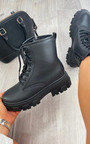 Lola Faux Leather Biker Boots Thumbnail