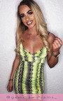 Lola Snake Print Mini Dress Thumbnail
