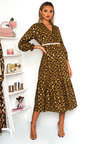 Lora Printed Frill Maxi Dress Thumbnail