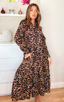 Loren Leopard Print Maxi Shirt Dress Thumbnail