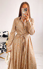Loren Printed Maxi Shirt Dress Thumbnail