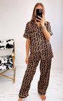 Lorette Button Up Printed Pyjama Co-Ord Thumbnail