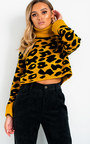 Lorna Roll Neck Knitted Cropped Jumper Thumbnail