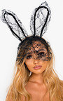 Lottie Lace Bunny Ears Headband Thumbnail