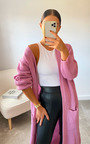 Lottie Longline Knitted Cardigan Thumbnail