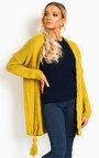 Lottie Longline Tassel Knitted Cardigan Thumbnail
