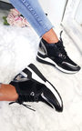 Lou Mesh Chrome Wedge Trainers Thumbnail