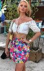 Louisa Floral Peplum Skirt Thumbnail