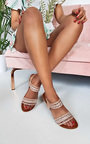Lucia Diamante Strappy Sandals Thumbnail