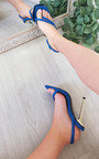 Lucinda Faux Leather Strappy High Heels Thumbnail
