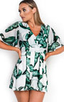 Lula Tropical Backless Playsuit Thumbnail