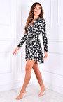 Luna Ruffle Hem Printed Shirt Dress Thumbnail